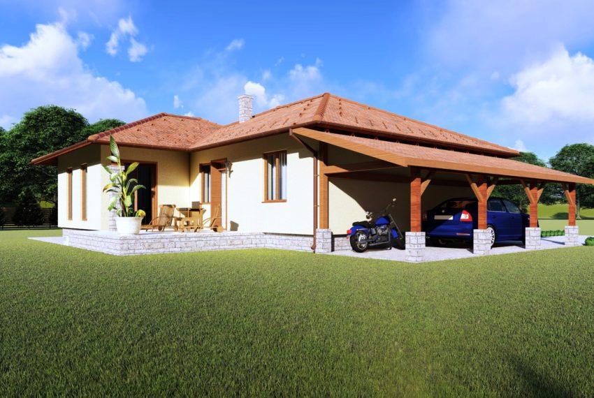 Kulcsrakész ház Kecskemét Viva típusú családi ház garázs nézet